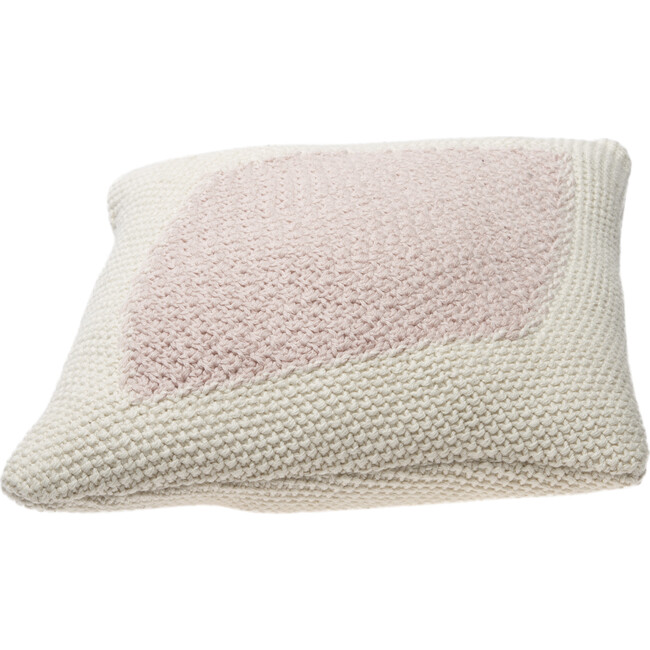 Knitted Candy Cushion, Vanilla/Pink