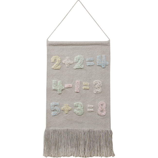 Baby Numbers Wall Hanging, Natural