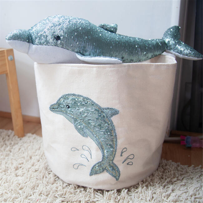 Sequin Dolphin Bin