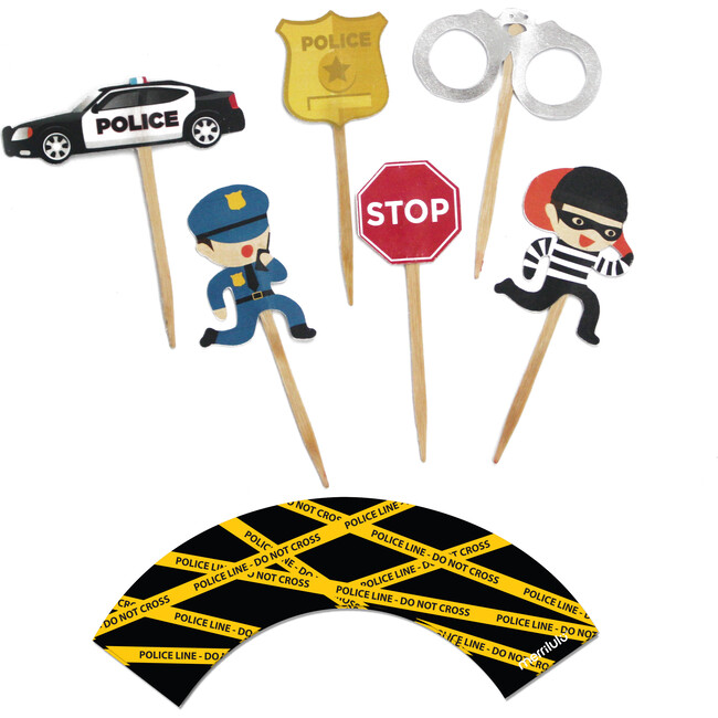 Cops And Robbers Cupcake Toppers