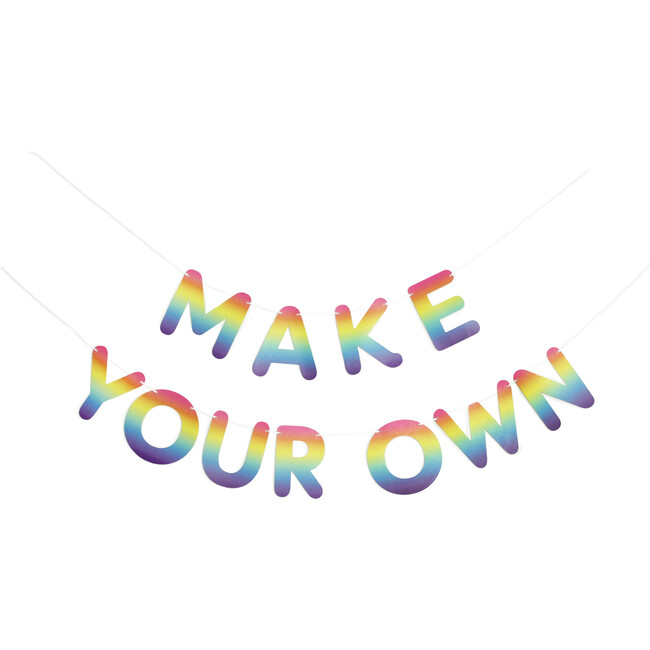 Make Your Own Banner in Rainbow