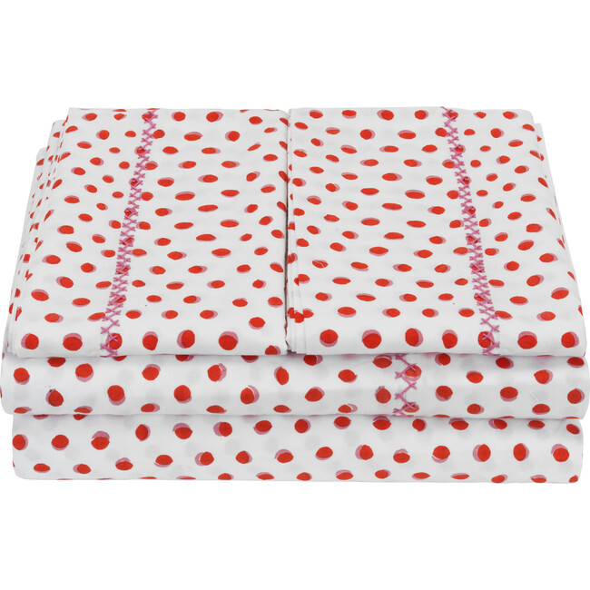 Luna Sheet Set, Red/Pink