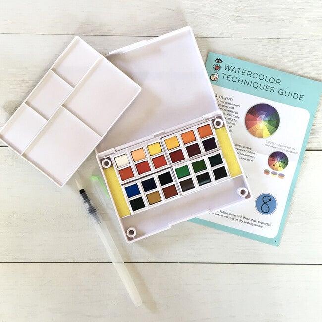 24 Watercolors + Water Brush Pen