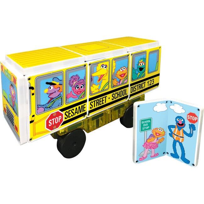 Sesame Street School Bus Magna-Tiles Structures