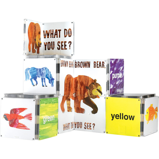 Brown Bear, Brown Bear, What Do You See? Magna-Tiles Structures