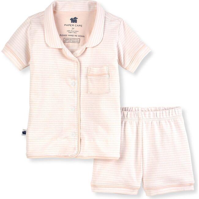 Short Sleeve Classic Pajamas, Pink Stripe