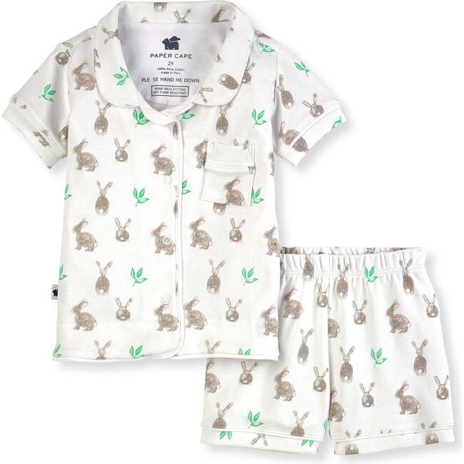 Short Sleeve Classic Pajamas, Bunny Print