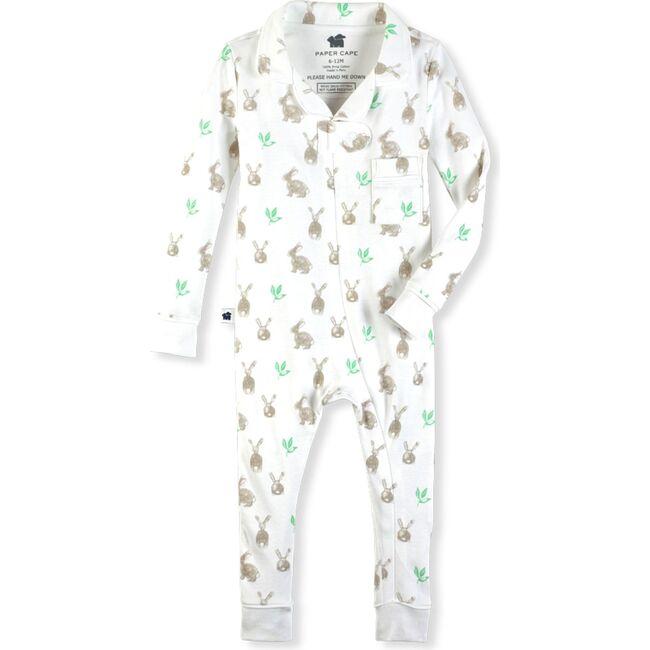 Classic Footless Pajama Onesie, Bunny Print