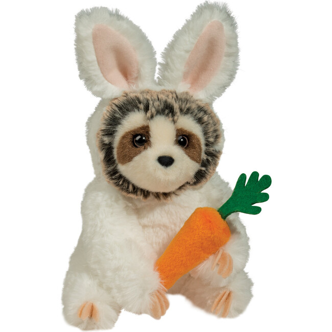 Slowpoke Sloth in Bunny Outfit with Carrot