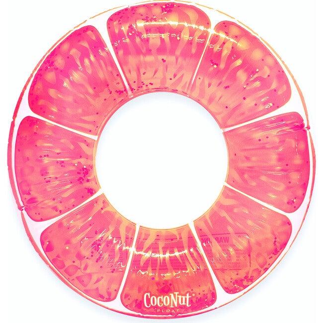 Pink Grapefruit Glitter Pool Float
