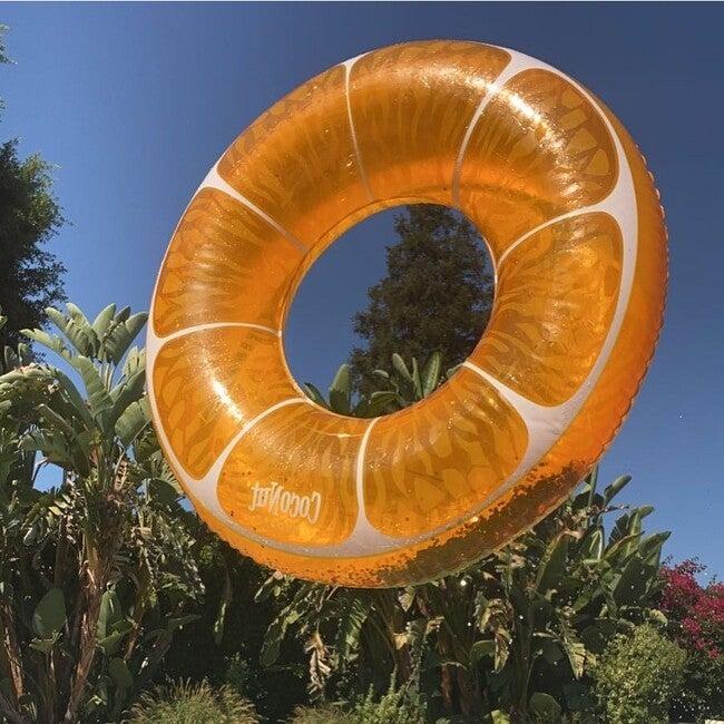 Tangerine Orange Glitter Pool Float