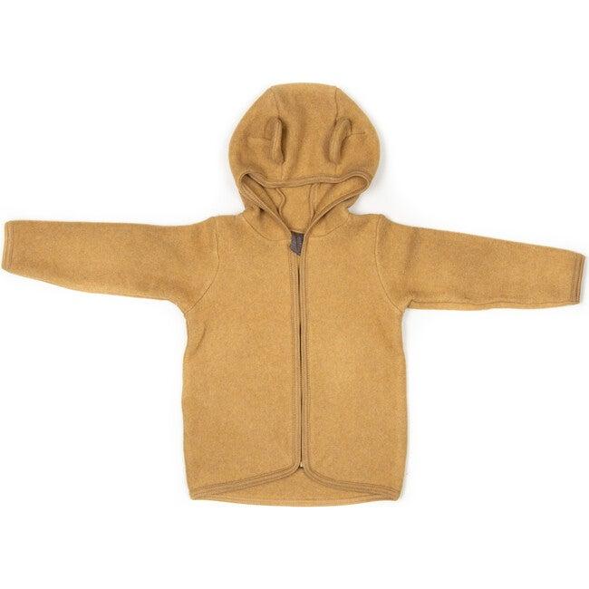 Cotton Fleece Jacket w/ears, Ochre