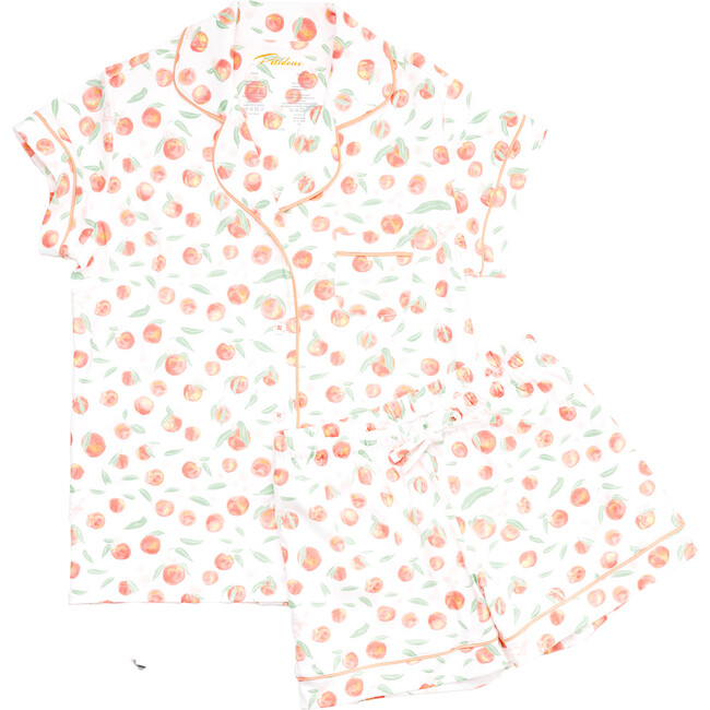 Women's Summer Peaches Pajamas, Orange