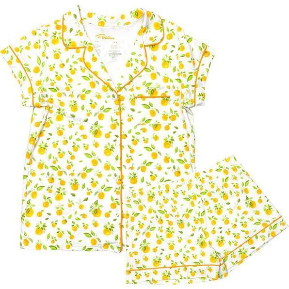Women's Summer Loungewear Set, Orange Blossoms