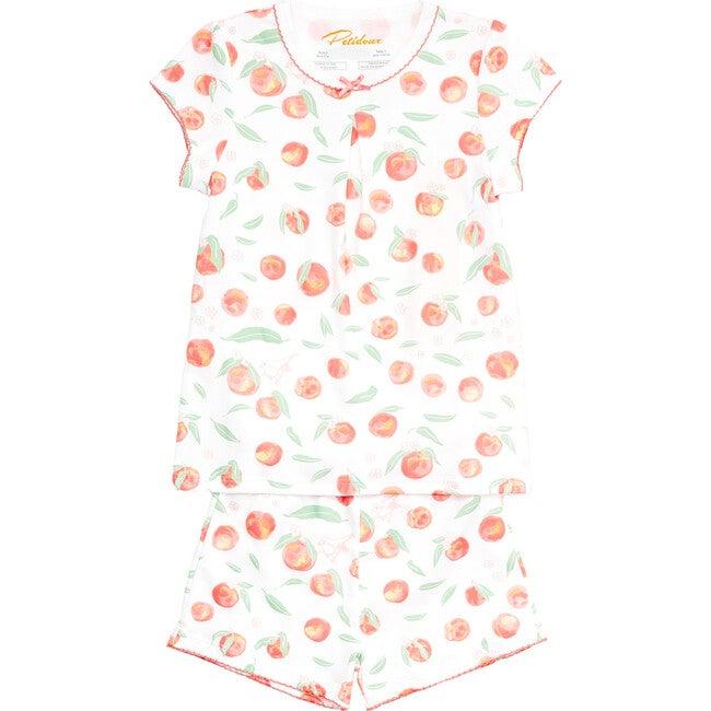 Summer Peaches Short Sleeve Pajamas, Orange