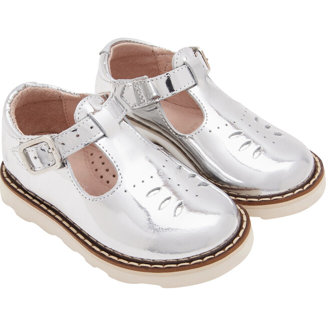Baby T-Strap Shoes, Silver