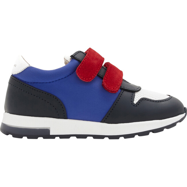 Running-Style Sneakers, White & Blue