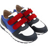 Running-Style Sneakers, White & Blue - Sneakers - 2
