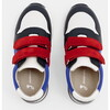 Running-Style Sneakers, White & Blue - Sneakers - 4