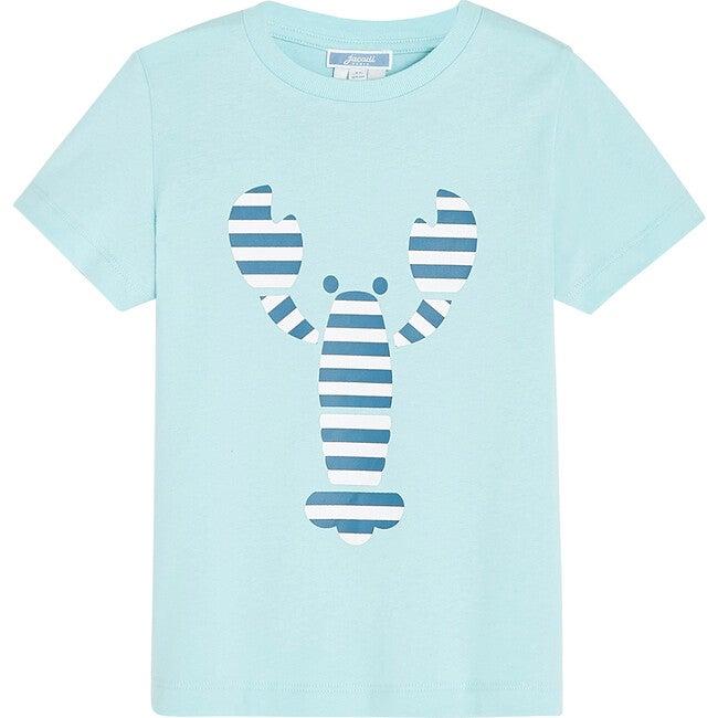 Lobster Pattern T-Shirt, Alize Blue