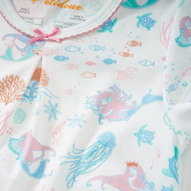 Mermaid Dreams Short Sleeve Pajamas, Blue