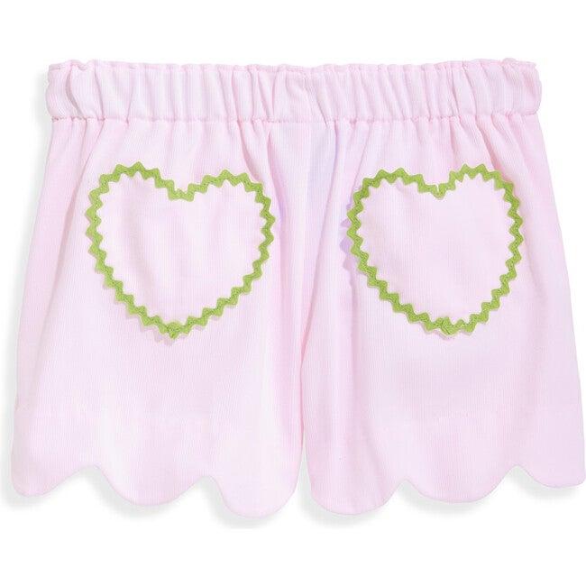 Heart Pocket Short, Pink Pique