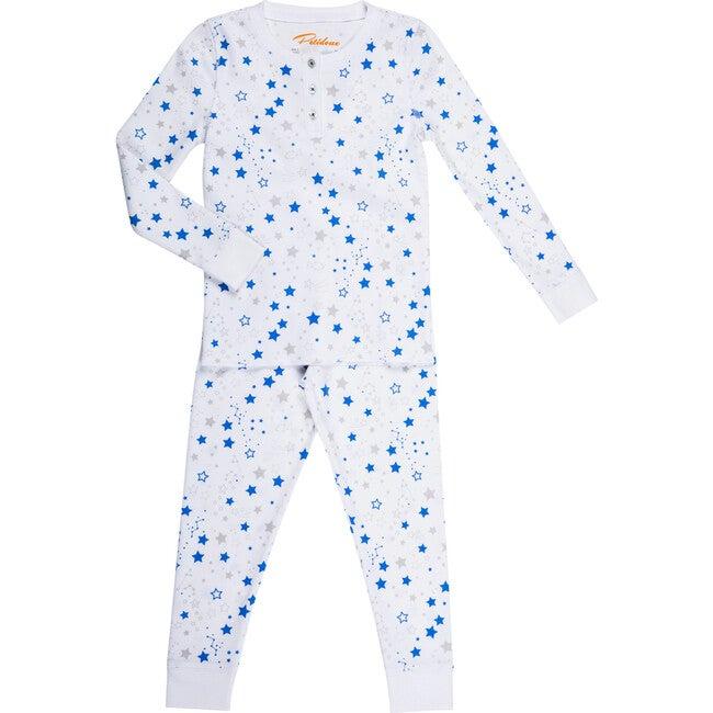 Starry Night Long Pajamas, Blue