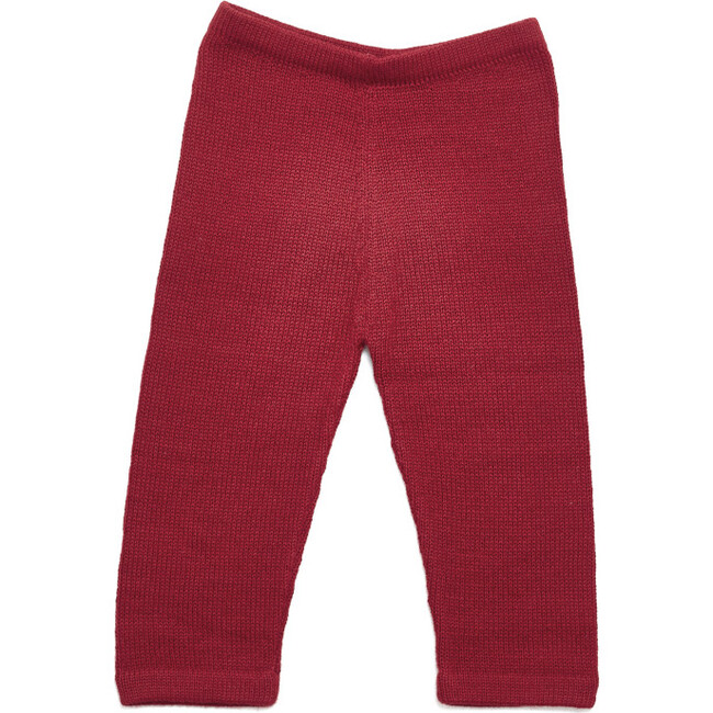 Baby Alpaca Pants, Red