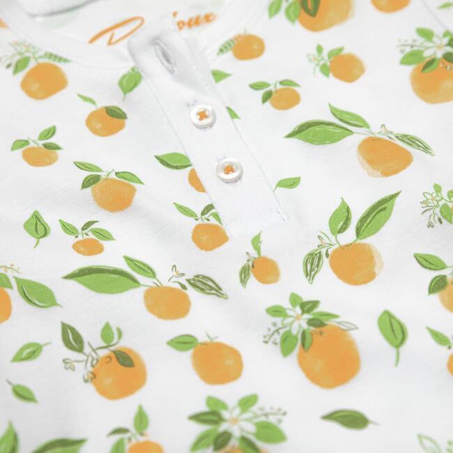 Onesie with Hat, Orange Blossoms