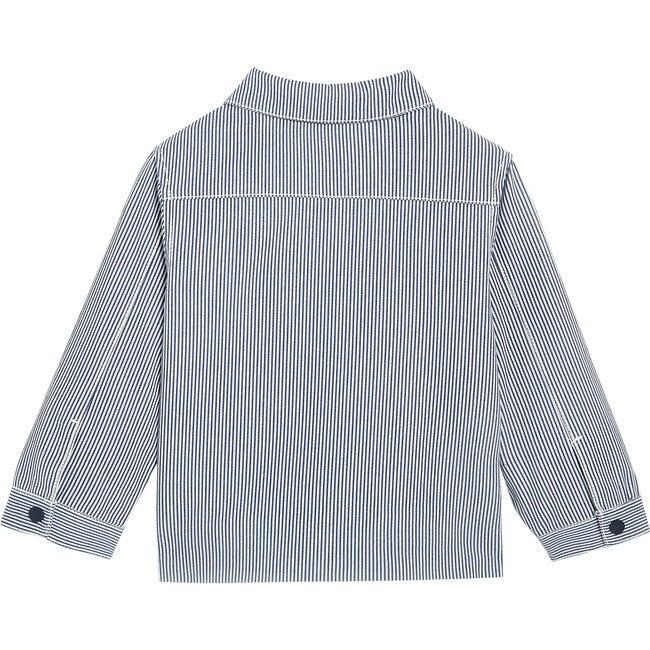 Stripes Utility Jacket, White & Blue