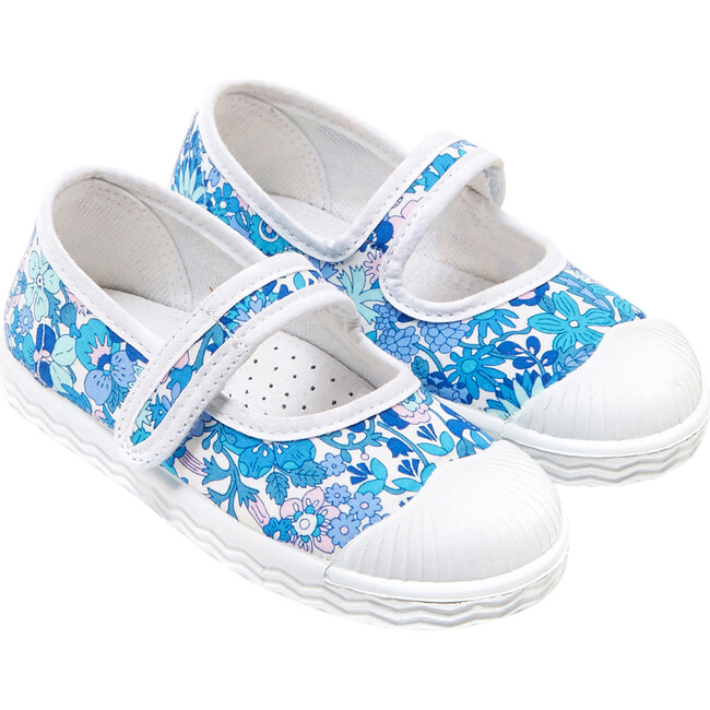 Baby Canvas Mary Janes, Blue & Muliticolored