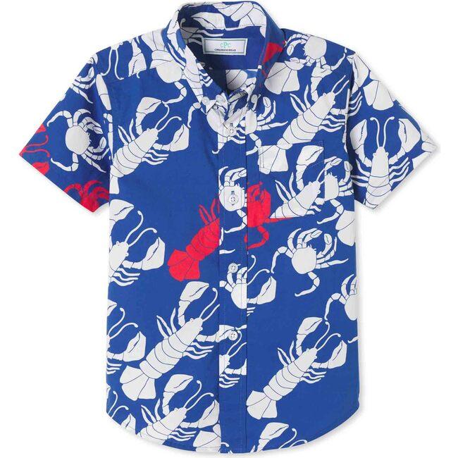 Owen Short Sleeve Button Down, Lobster Invasion Print