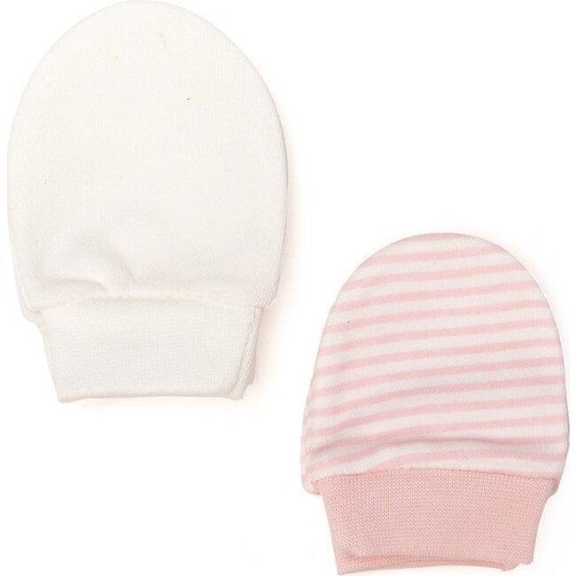 Striped Gloves, Pink