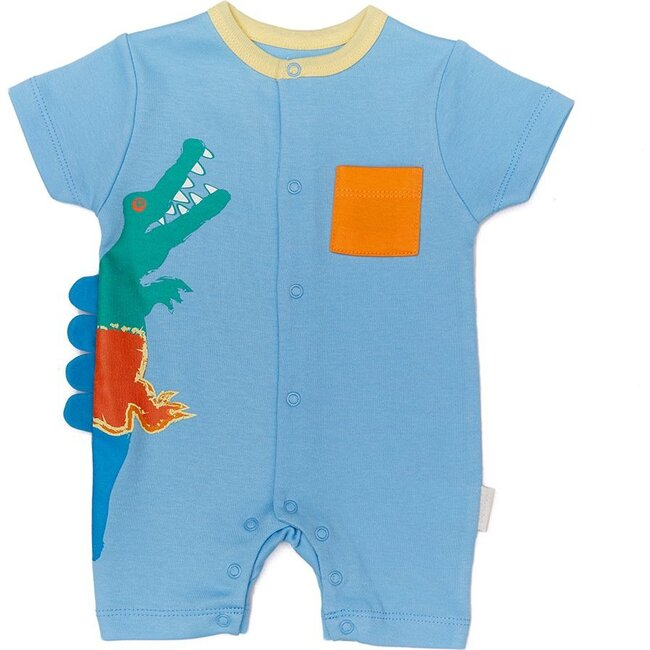 Playtime Overall Romper, Blue