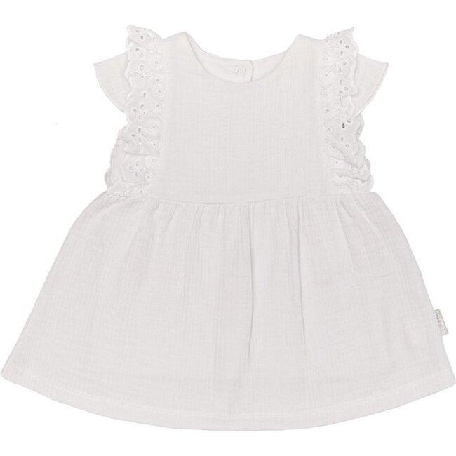 Something Pretty Ruffle Dress, White