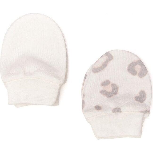 Leopard Gloves, Ecru