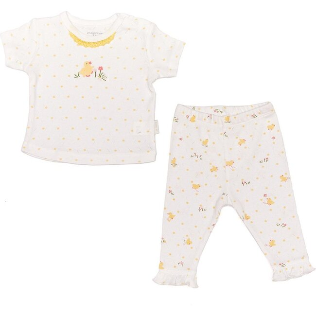 Happy Chicky Outfit, White