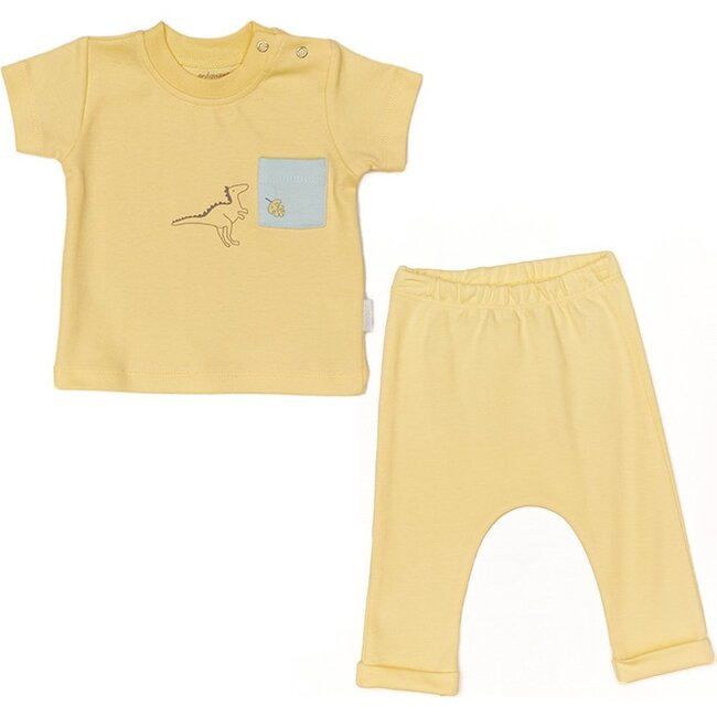 Dinosaur Graphic Outfit, Yellow
