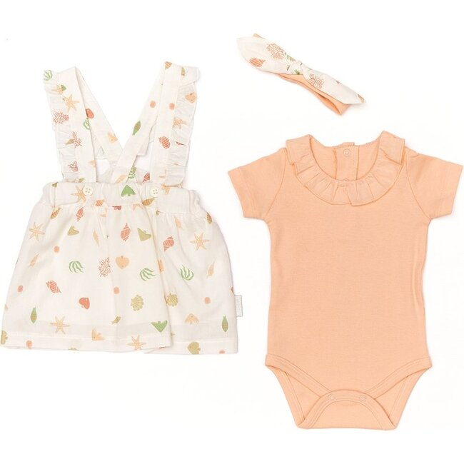 3 Piece Starfish Outfit Set, Salmon