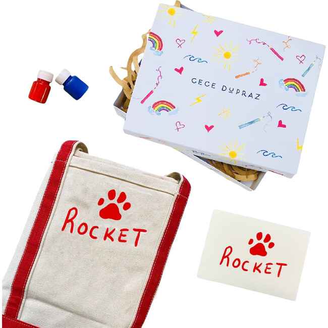 Draw Your Own Paw Print Tote Gift Set