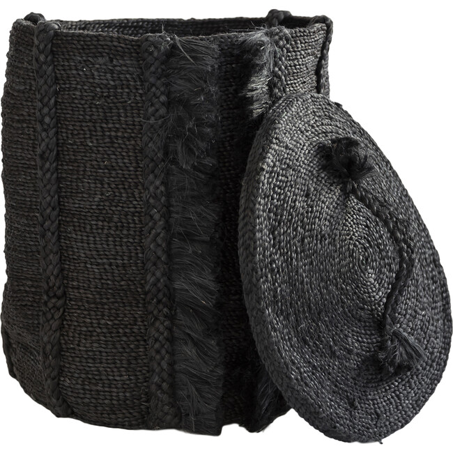 Round Basket Lid, Desert Black