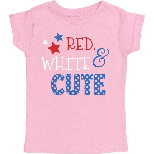 Red, White & Cute SS Shirt, Light Pink
