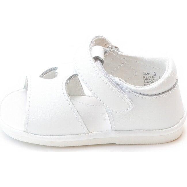 Betsy Open Heart Sandal, White