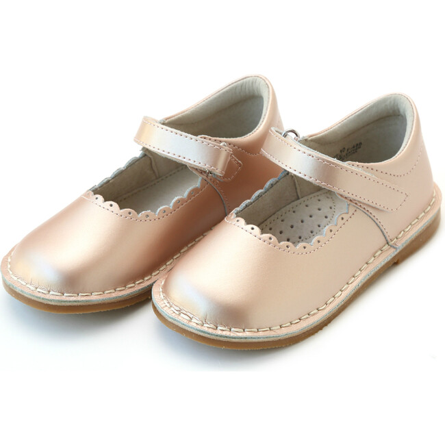 *Exclusive* Caitlin Scalloped Stitch Down Mary Jane, Pink Gold