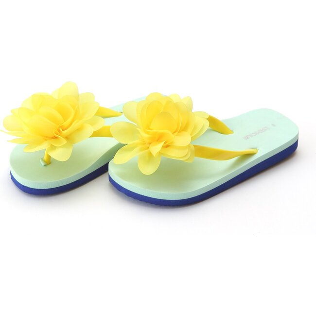 Joyce Flower EVA Flip Flop, Yellow