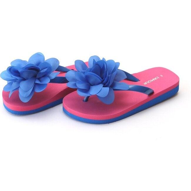 Joyce Flower EVA Flip Flop, Royal Blue - Sandals - 1
