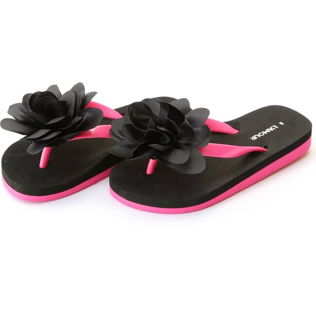 Joyce Flower EVA Flip Flop, Black