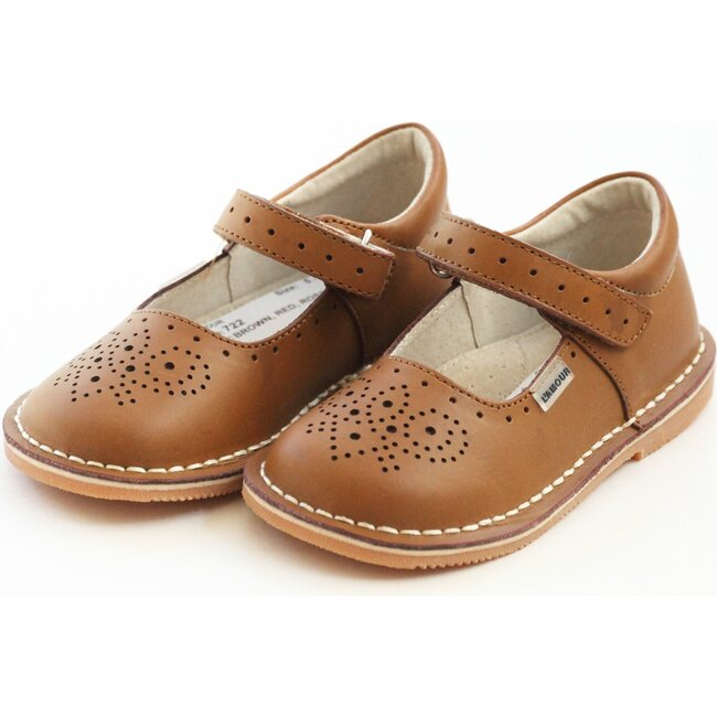 Ollie Stitch Down Leather Mary Jane, Brown