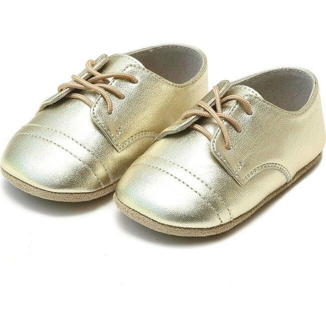 Bailey Derby Crib Shoe, Gold