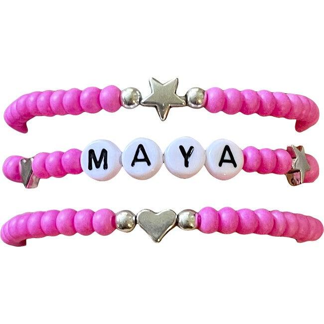 Neon Pink Bracelet Set